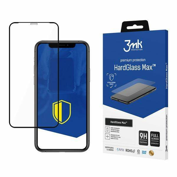 3MK MAX HARD GLASS IPHONE XR BLACK