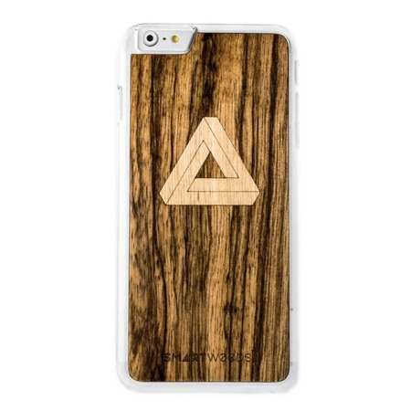 CASE WOODEN SMARTWOODS TRIANGLE CLEAR IPHONE 6 PLUS / 6S PLUS