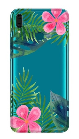 CaseGadget CASE OVERPRINT LEAVES AND FLOWERS HUAWEI Y9 2019