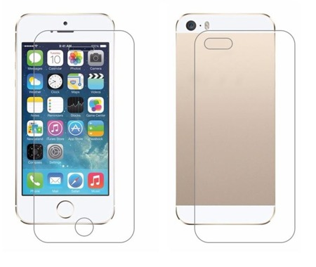 TEMPERED GLASS 9H IPHONE 5 5S SE BACK FRONT + BACK