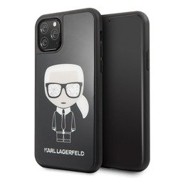 KARL LAGERFELD HARD CASE ICONIC FULL BODY EMBOSSED KLHCN58GLBK IPHONE 11 PRO CZARNY